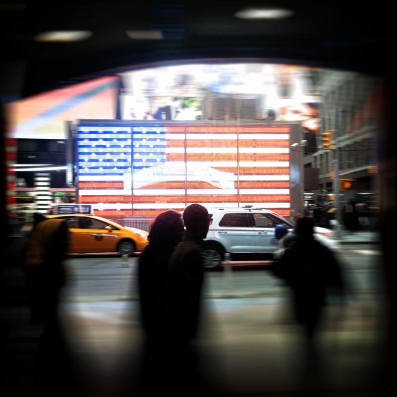 New York blurred