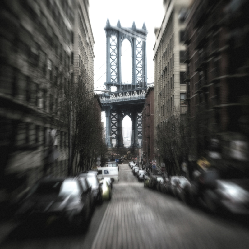 New York blurred